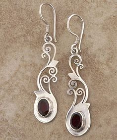 @Overstock.com - Enjoy true Nepalese craftsmanship with these handmade garnet earrings. The beautiful design of these earrings is shaped of sterling silver.http://www.overstock.com/Worldstock-Fair-Trade/Sterling-Silver-Garnet-Earrings-Nepal/2647022/product.html?CID=214117 $13.49