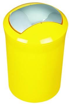 #Spirella Sydney Acrylic Yellow Swing Bin. #bathroom #yellow