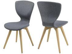 Krzesło Gongli szare nogi drewniane bielone Actona