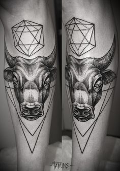 charging bull abstract | bull tattoo en Tumblr