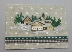 Village sous la neige Le Point, Points, Atc, Advent Calendar, Cross Stitch, Holiday Decor, Christmas, Winter Time, Punto De Cruz