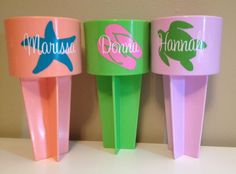 Beach Spikers Drink Holder Beach Gift Graduation by JSMDesignz