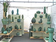 Jemerick Art Pottery's outdoor art fair display