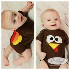 This listing is for an appliqued turkey bodysuit with turkey feathers on the back.    While the shirt is shown in the colors above, the color