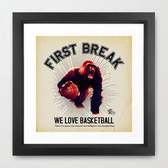 First Break Framed Art Print by Faintness graphics - $35.00