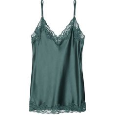 Stella McCartney Ruby Snoozing stretch-silk and lace camisole ($125) ❤ liked on Polyvore