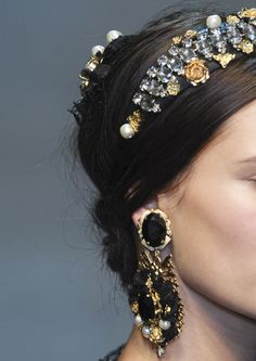 Why not rock a jeweled headband?