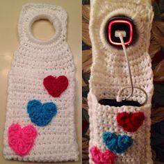 The Perfect Stitch...: Crochet I-phone/I-pod Holder -- Hearts Bag...