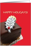 happy holigays christmas card - Christmas Chocolate