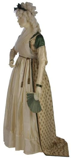 Robe Place of origin: England, Great Britain  Date: ca. 1797  Materials and Techniques: Printed silk and wool shawl, lined with linen, silk satin, silk ribbon, metal, hand-sewn Museum number: T.217-1968 | V&A