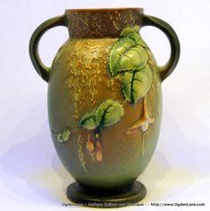Roseville Fuchsia Vase 8926 by ogdenlane on Etsy, $90.00