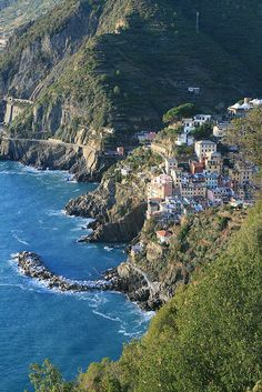 Riomaggiore and the other  four villages  in the Cinque Terre,The most beautiful af all the villages in Italy.