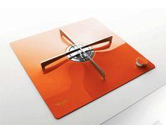 contemporary-kitchen-gas-stove-burner-orange-color