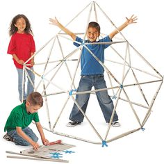 Go green with construction fun. Don't toss out newspapers: Recycle them to build incredible geometric sculptures! Tape the included tubes to both ends of a sheet of newspaper. Roll up the newspaper and secure with tape to make a connecting paper rod.