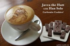 Javva the Hutt and Han Solo cookies
