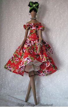 Tilda doll Fabric doll Tilda Doll OOAK doll Afro Cloth doll Handmade Fabric doll Primitive doll Home decor African Dolls, Ballerina Doll, Doll Home, Plush Dolls, Rag Dolls, Fairy Dolls, Soft Dolls, Doll Patterns, Doll Clothes