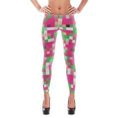 Pixel Leggings (Pink & Green)