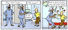 Tintin déteste la soupe !