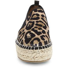 Steve Madden Women's Phoebe-V Flats ($80) ❤ liked on Polyvore featuring shoes, flats, leopard, steve madden shoes, leopard print flats, velvet flats, slip-on shoes and leopard print flat shoes