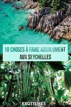 [Voyage Seychelles] ☀ Découvrez 10 choses à faire Absolument aux Seychelles ! Mahé, Praslin, La Digue, Moyenne, Silhouette… 115 îles composent cette destination, synonyme de détente et de bonheur tropical.🌴Oui mais voilà, encore faut-il ne pas passer à côté des lieux et des activités les plus remarquables. 🏝 Nous vous dévoilons nos coups de cœur 😍 #exotismes #seychelles #voyage #paysages #ile #tropical #blog #blogdevoyages #guide #todolist