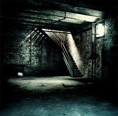This is what it looks like (the stairs are in the middle of it and it's darker in my dreams). Also, this looks nothing like the basement in real life at my house. I've had more than one dream about the basement in my family's house. Scary Houses, Real Haunted Houses, Most Haunted, Haunted Places, Abandoned Places, Haunted Mansion, Half Elf, Paranormal Pictures, Scary Dreams