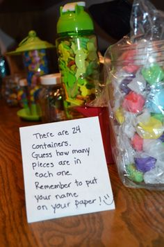 family reunion candy jar guessing