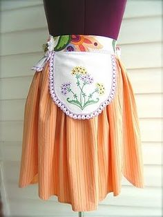 Circus inspired apron