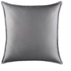 Happy Chic by Jonathan Adler Blanket Stitch Euro Pillow (Grey) ($49) ❤ liked on Polyvore featuring home, bed & bath, bedding, bed pillows, grey, jonathan adler, euro bed pillows and european bed pillows