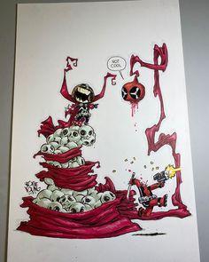 Chibi Superhero, Young Art, Skottie Young, Image Comics, Spawn, Deadpool, Profile, Marvel, Illustrations