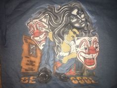 VTG 90's Lowrider art Colorblock Sweatshirt L cholo chicano Impala Clowns Girl #Tultex #SweatshirtCrew