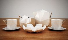 Porzellan Kollektion im Polygon-Produktdesign | Studio5555