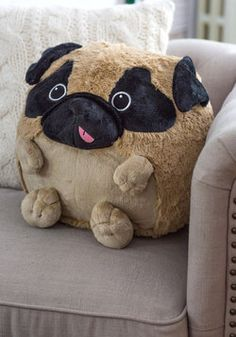 Plush One Pillow in Pug, #ModCloth  I don't need this but had to post it.