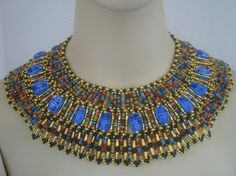 broad collar Egyptian style with scarabs