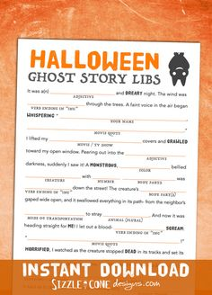 Sizzle Cone Designs presents frighteningly hilarious halloween mad libs: an all ages game for your harvest party or halloween bash. Plus they