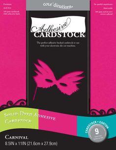 Core'dinations - 8.5 x 11 Adhesive Cardstock - Carnival at Scrapbook.com