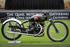 Rollie Free's famous HRD Vincent Black lightning (the bathing suit bike).