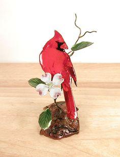 Cardinal with Dogwood on Moanzanita by Bovano of Cheshire. Vitreous enamel…