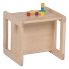Wendehocker mitwachsend Tisch aus Holz Kinderhocker Stuhl (ohne Deko)