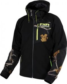 FXR Racing Recoil Realtree Softshell Mens Skiing Snowmobile Hooded Jackets