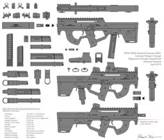 Future Concept Guns M290 submachine gun concept by