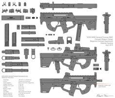 M290 Submachine Gun Concept by ~daisukekazama on deviantART