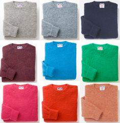 Shaggy Dog { mens } Shetland crewneck sweater from J. Press