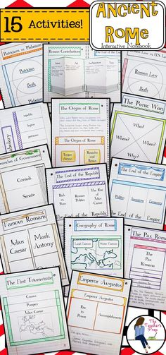 These 15 interactive notebook activities will help students organize information about the ancient Romans!