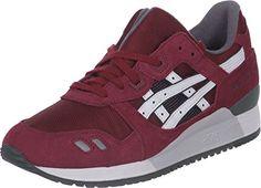 Asics , Herren Sneaker Burgunderrot / Weiß - http://uhr.haus/asics/asics-herren-sneaker-burgunderrot-weiss