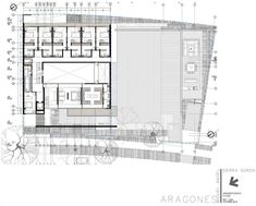 Image 21 of 23 from gallery of La Palma / Miguel Angel Aragonés. Photograph by Miguel Angel Aragonés Plans Architecture, Concept Architecture, Residential Architecture, Miguel Angel, Architectural Floor Plans, Site Plans, Celebrity Houses, Modern House Design, Modern Houses