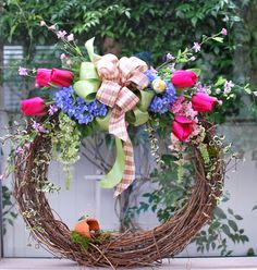 Pretty wreath for Spring!