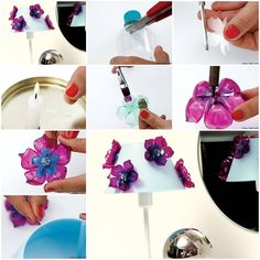 How to make Flowers of Recycled Plastic Bottles DIY tutorial instructions, How to, how to do, diy instructions, crafts, do it yourself, diy website, art project ideas