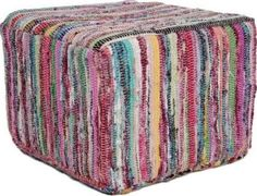This versatile pouf ottoman is the perfect piece for any room. The casual rope knit enhances any decor, and the circumference provides enough room to use as an