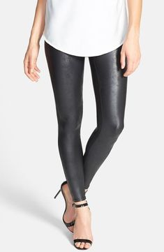 c02269b5b359  98 SPANX FAUX LEATHER LEGGINGS SIZE S SMALL PREOWNED  fashion  clothing   shoes