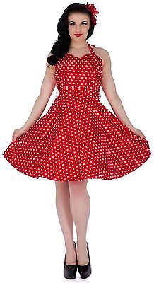 UK XL, Rot (red – Tie Belt Ah), Dolly and Dotty Women's Penny Casual Clothes NEW